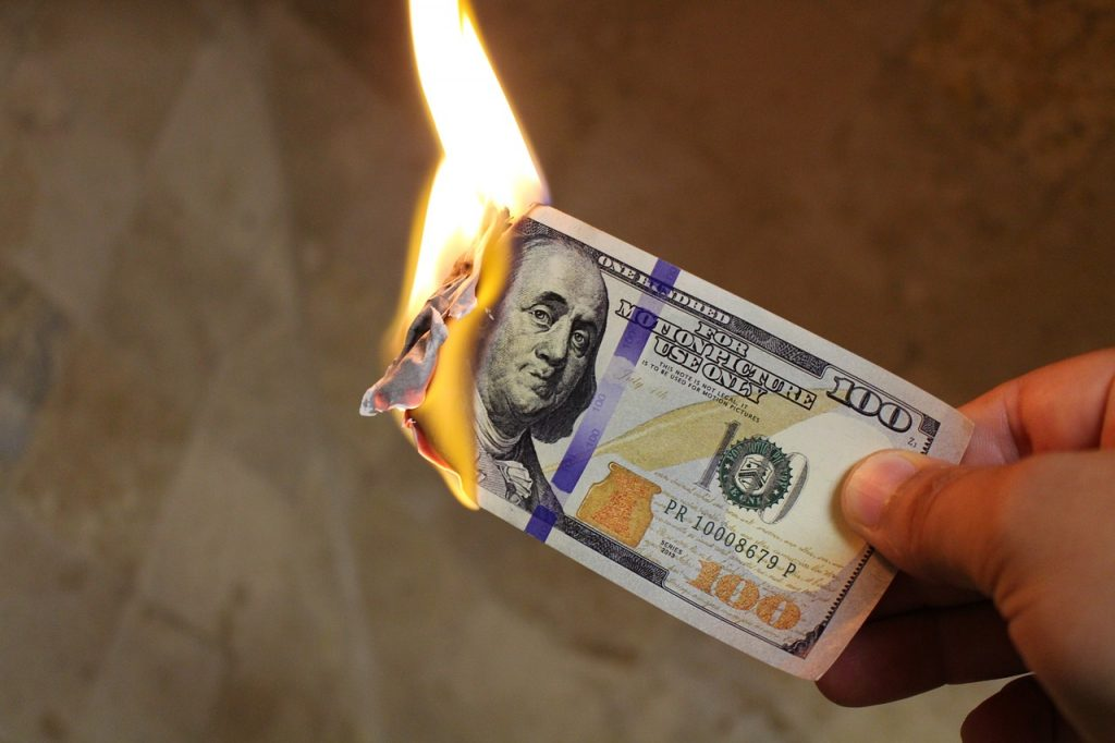 paid advertising burning money