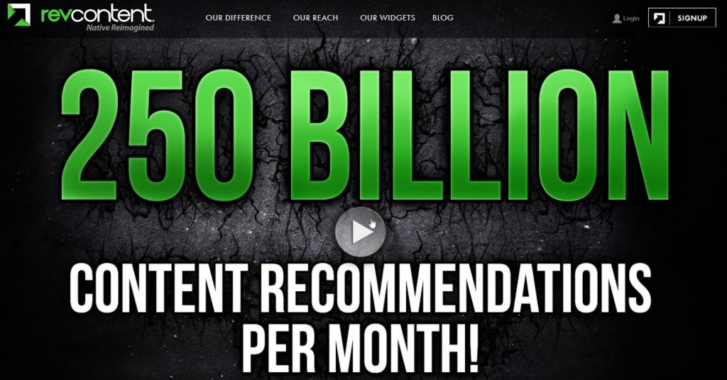 revcontent - content recommendation ad network.