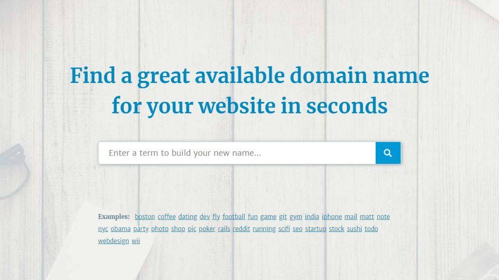 Use a Domain Name Generator