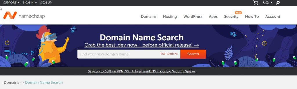 NameCheap Domain Registrar