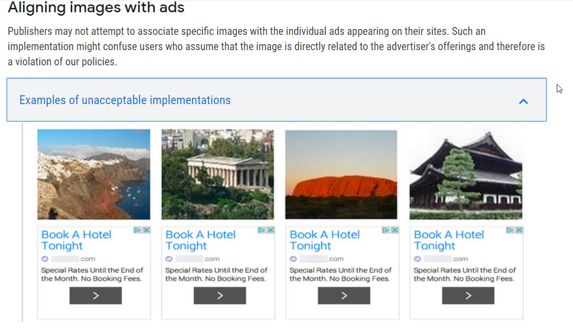 Don't Align Adsense Ads with Images