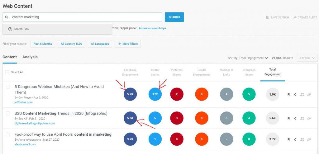 digital marketing tools for social media buzzsumo