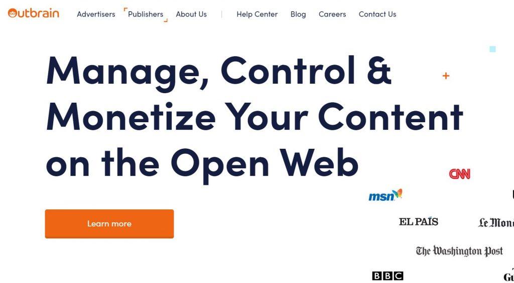 outbrain - premium native ad network