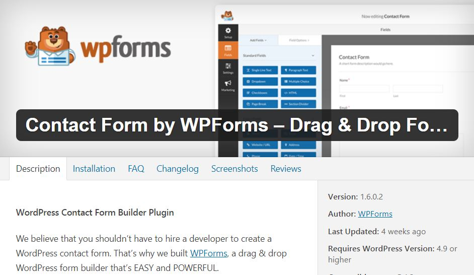 wpforms - best wordpress plugins for affiliate marketing