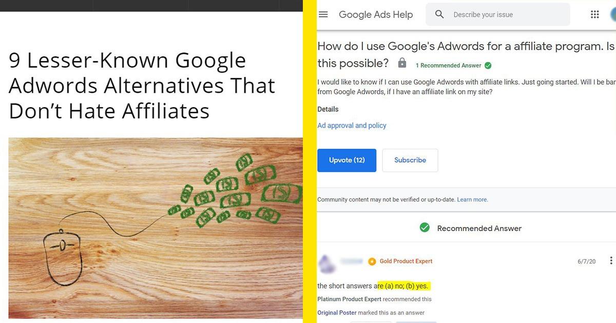 Google Ads vs Affiliates