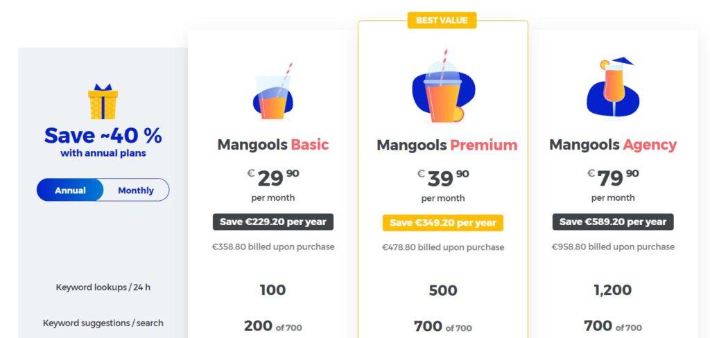 mangools plan