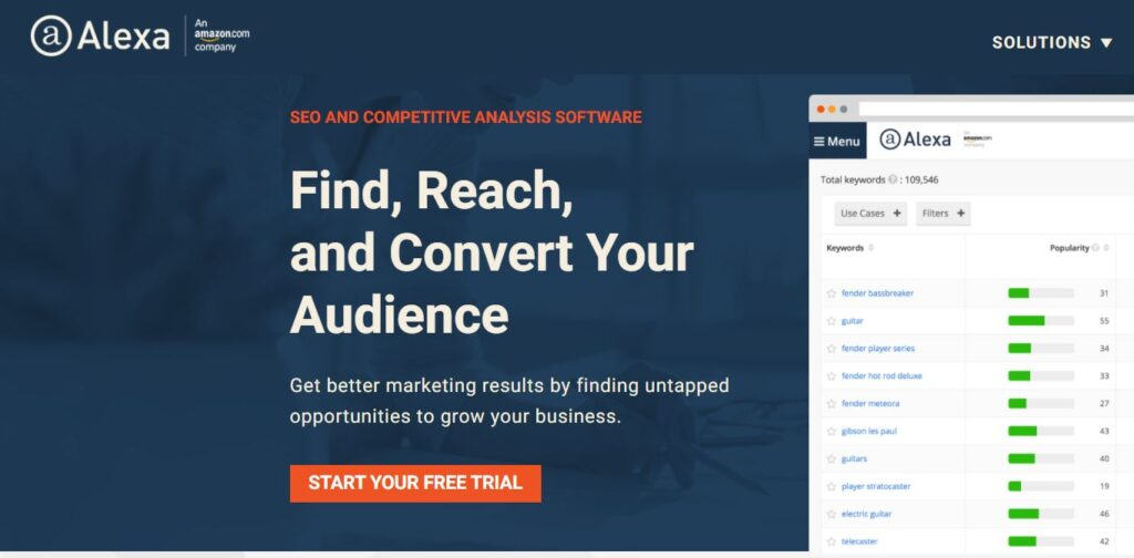 alexa - free similarweb alternative