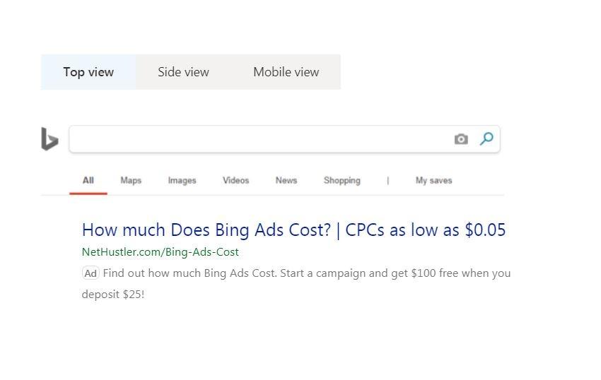 types of bing ads