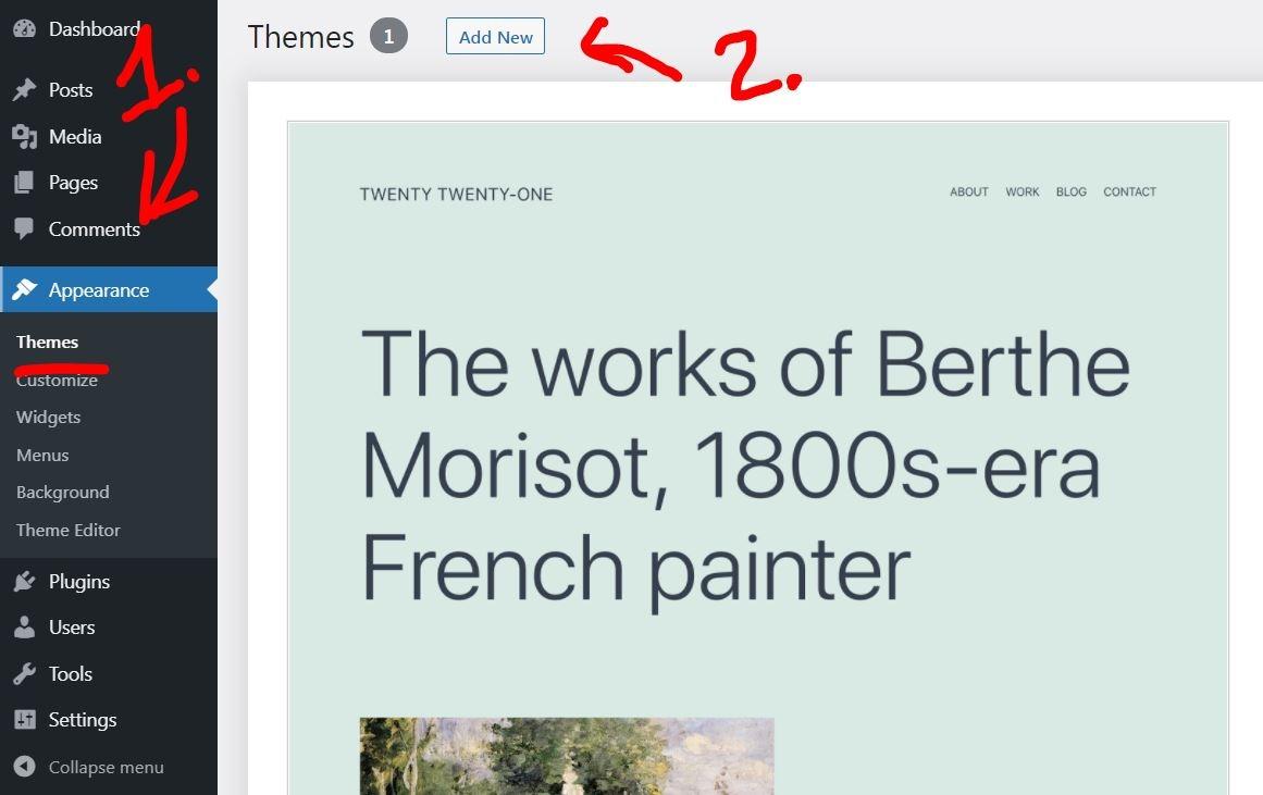 install blog theme