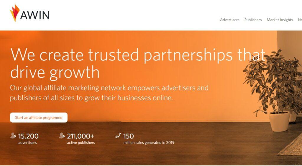 awin - affiliate platform