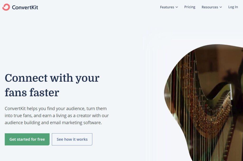 convertkit - good mailchimp alternative for creators