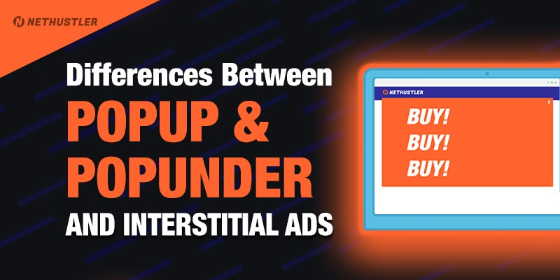 Difference between popup and popunder ads
