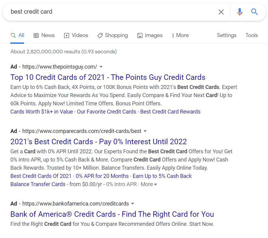 google ad trick - use all ad space
