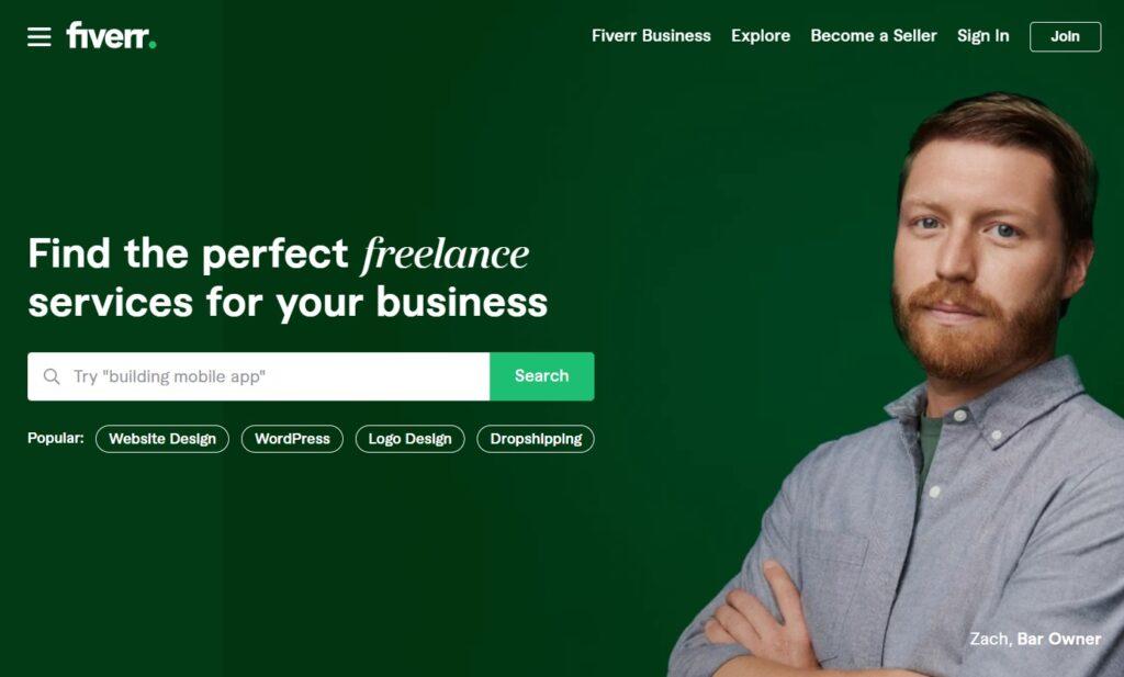 fiverr online marketing platform