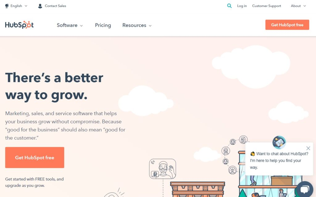 hubspot digital marketing tool for CRM and lead generation