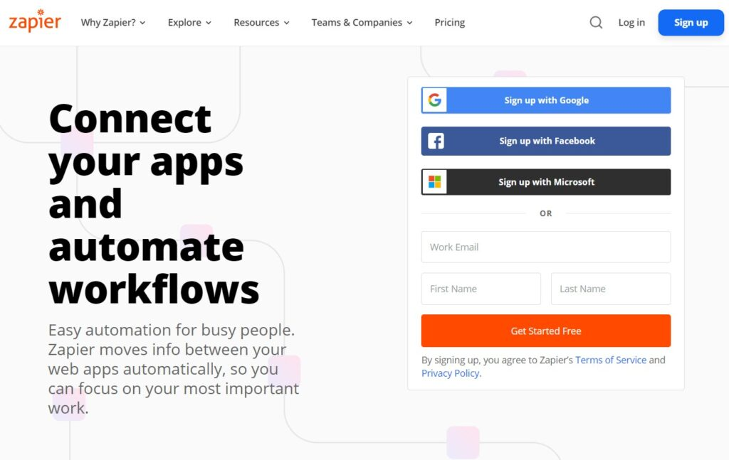 zapier - one of the great digital marketing tools for businesses